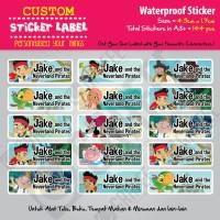 Sticker Label Jake and the Neverland Pirates - Stiker nama waterproof