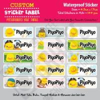Sticker Label Piyo Piyo - Stiker nama waterproof