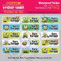 Sticker Label KeroKeroppi - Stiker nama waterproof