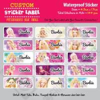 Sticker Label Barbie - Stiker nama waterproof