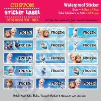 Sticker Label Frozen - Stiker nama waterproof
