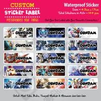 Sticker Label Gundam - Stiker nama waterproof
