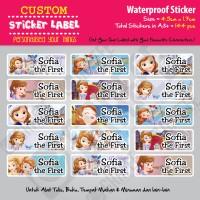 Sticker Label Sofia the First - Stiker nama waterproof