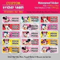 Sticker Label Minnie Mouse - Stiker nama waterproof