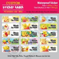 Sticker Label Winnie the Pooh - Stiker nama waterproof