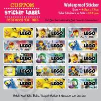 Sticker Label Lego - Stiker nama waterproof