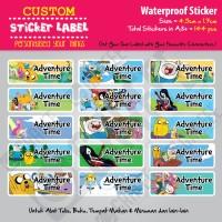Sticker Label Adventure Time - Stiker nama waterproof