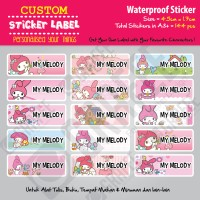 Sticker Label My Melody - Stiker nama waterproof