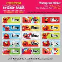 Sticker Label Elmo - Stiker nama waterproof