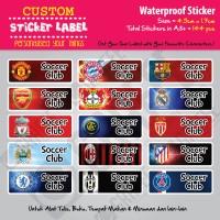 Sticker Label Soccer Club - Stiker nama waterproof