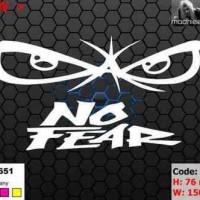 ea cutting sticker / decal    Code: mi005    ( no fear )