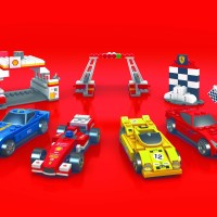 LEGO SHELL FERRARI SET 6PCS COLLECTIBLE ITEMS