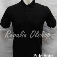 POLO SHIRT /polo shirt hitam/kaos kerah/kemeja/ksos murah/kaos grosir - Hitam