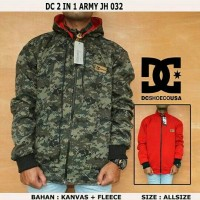 JAKET DC 2 IN 1 ARMY JH 032