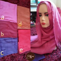 Jilbab / Hijab / Kerudung / Pashmina Bahan Tyrex Tepi Rawis