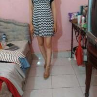 White Dress Strip Blue