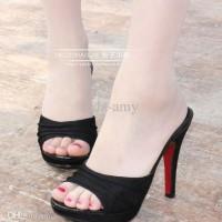 High Heels AT11 Hitam