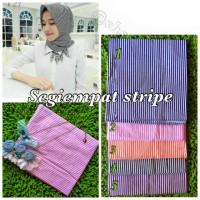 jilbab segiempat monochrome stripe