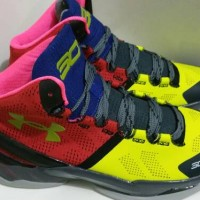 Under Armour Stephen Curry 2 SC30 High Pink Yellow Basketball
