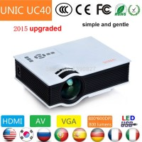 Mini Led Projector Bioskop Video Uc40 800 Lumens