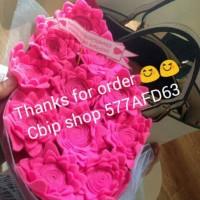 Buket bunga kain flanel