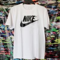 T-shirt/Kaos Oblong Nike Putih Murah (cotton,polyflex,M,L,XL,distro)