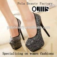 heels black glitter
