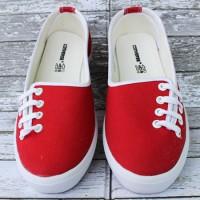 Sepatu Converse All Star Flat Women Tali Samping Biru Tosca