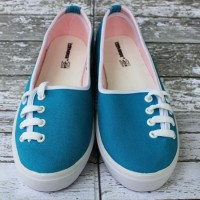 Sepatu Converse All Star Flat Women Tali Samping Birumuda