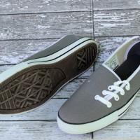 Sepatu Converse All Star Flat Women Tali Samping Abu-Abu