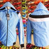 Jaket Adidas Laser Biru Muda Parasut  (murah,terbaru Th 2016)