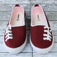 Sepatu Converse All Star Flat Women Tali Samping maroon