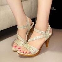 high heel strap gliter