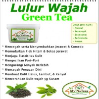 Lulur Wajah My Nature Organik lulur wajah GREEN TEA