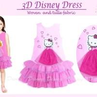 Dress Pink Layer Tutu Pink Hello Kitty - anak DSP0297