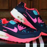 Sepatu Running Nike Airmax Spot Women Hitam Pink (Adidas,Aerobik,Gym)