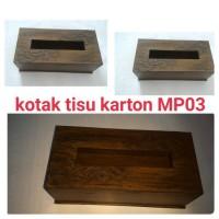 kotak tisu karton MP03