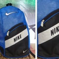 Tas Ransel Nike Biru Hitam Putih(sekolah,olahraga,sport)