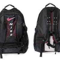 Tas Ransel Olahraga Nike hitam list merah(sekolah,sport,olahraga)