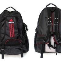 Tas Ransel Olahraga Adidas hitam list merah(sekolah,sport,olahraga)