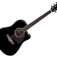 Ibanez PF15ECE-BK Dreadnought Cutaway Acoustic Electric Guitar