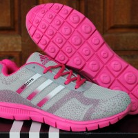 Sepatu Adidas Climacool Women Silver Pink(running,casual,joging)
