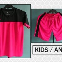 Jual Grosir/ecer Kaos Setelan Anak Nike Hitam Pink Terbaru 2016 Murah