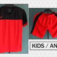 Jual Grosir/ecer Kaos Setelan Anak Nike Merah Hitam Terbaru 2016 Murah