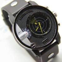 jam tangan Diesel Radar Rubber Hitam Jarum Kuning Kw Super