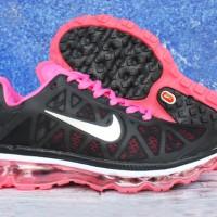 Sepatu Running Nike Airmax Fitsole Women Hitam Pink (Lari/Adidas/Gym)