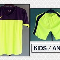 Jual Grosir/Ecer Kaos Setelan Anak Nike Stabilo Navy Terbaru New-2016