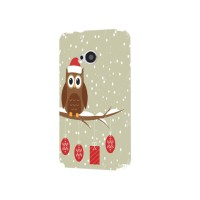 Cute Winter Owl Case for HTC One M7