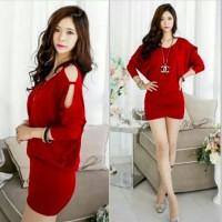 channel dress red fiit l . PL