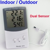 Hygrometeter Thermometer Indoor & Outdoor (2 sensor)